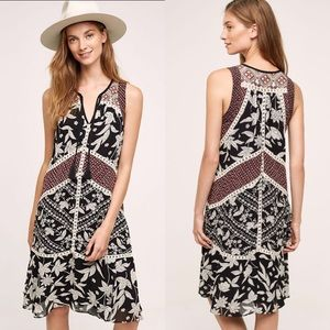 Anthropologie Floreat Grasslands Midi Dress